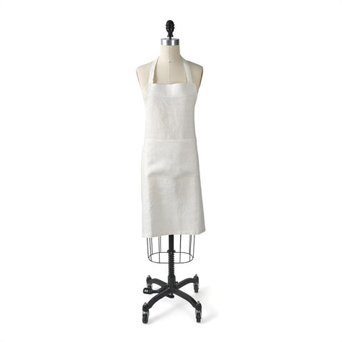 Waterworks Kittery Linen Kitchen Apron in Oyster