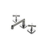 Waterworks Ludlow Low Profile Three Hole Deck Mounted Bathroom Faucet in Chrome