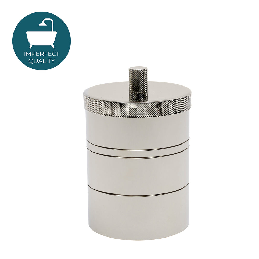 Waterworks Luster Limited Edition Knurled Container in Nickel