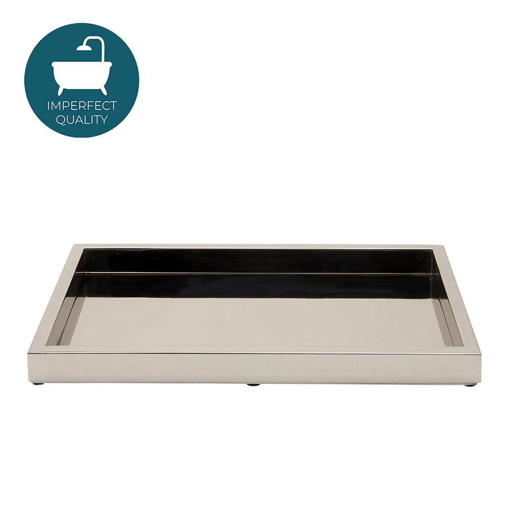 Waterworks Luster Tray in Nickel