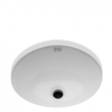 Waterworks Manchester Undermount Oval Lavatory Double Glaze Sink in Cool White
