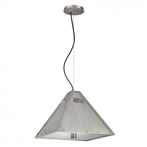 Waterworks Mason Ceiling Mounted Pendent in Burnished Nickel