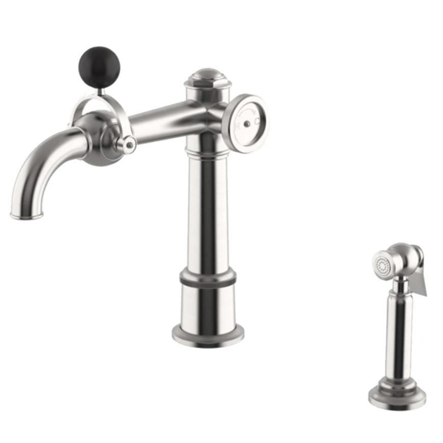 Waterworks On Tap High Profile Kitchen Faucet and Spray in Matte Nickel