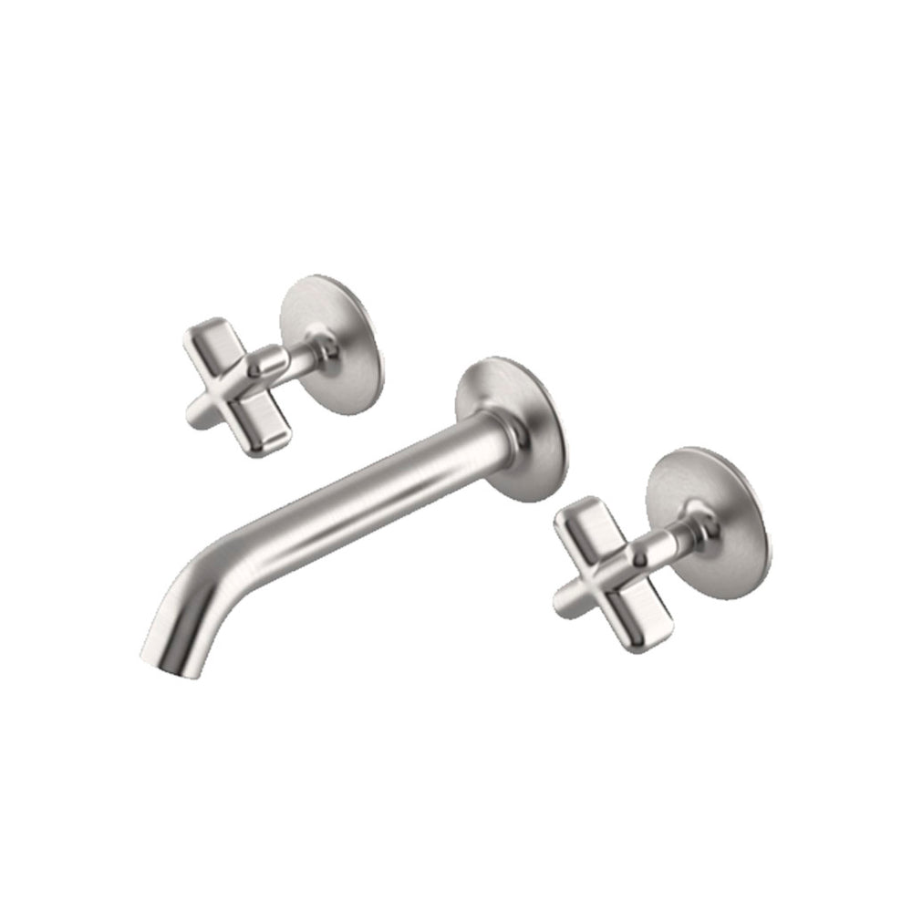 Waterworks .25 Low Profile Wall Mounted Lavatory Faucet in Matte Nickel