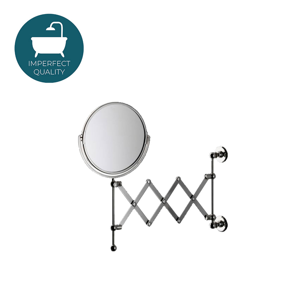 Waterworks Crystal Wall Mounted Magnifying Extension in Nickel