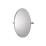 Waterworks Crystal Metal Oval Wall Mounted Tilting Mirror in Unlacquered Brass