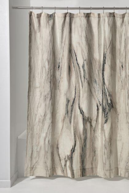 Waterworks Marmo Shower Curtain in Natural