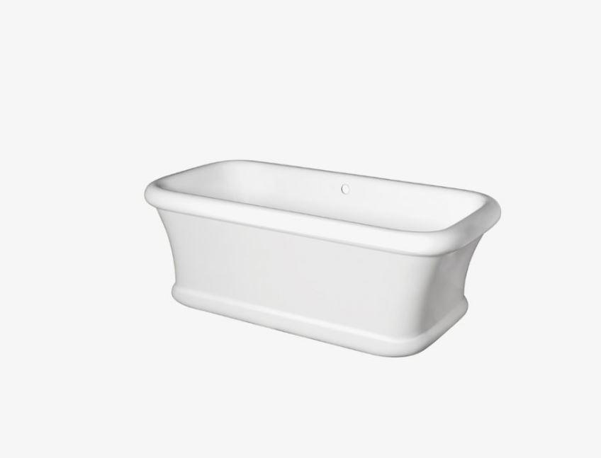 "Waterworks Nilo 70"" x 34"" x 24"" Freestanding Bathtub in Matte White"