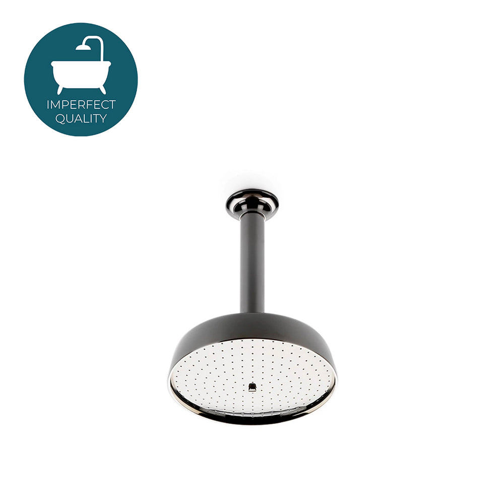 "Waterworks Opus 8"" Ceiling Mounted Shower Head, Arm and Flange in Chrome"