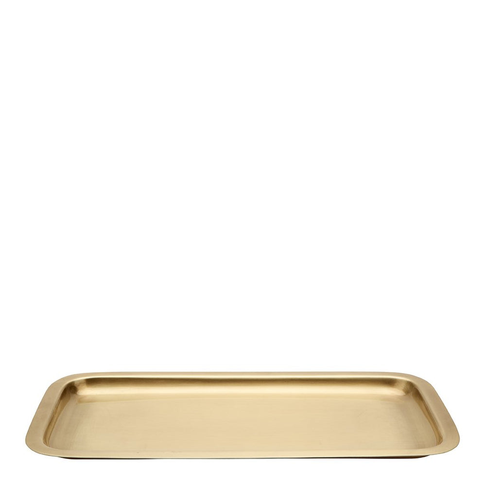 Waterworks Wallingford Tray in Matte Brass