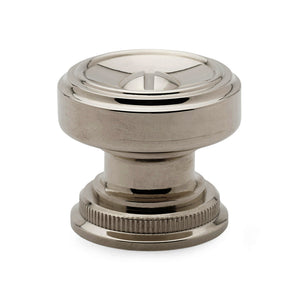 "Waterworks R.W. Atlas 1 1/4"" Rosette Knob in Nickel"