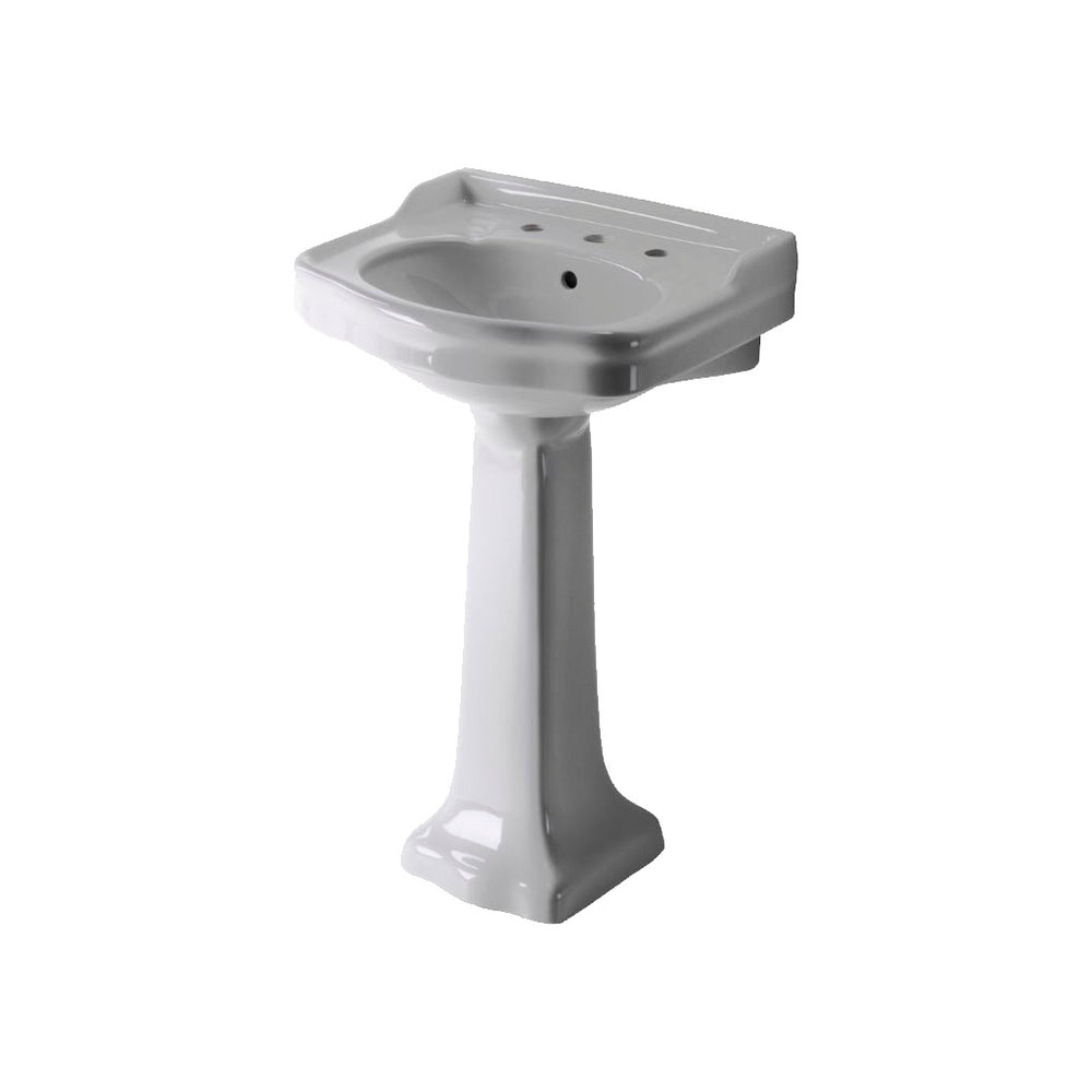 "Waterworks Palladio Vitreous China Pedestal Lavatory Sink 22 1/2"" x 18 1/2"" x 35"" For Sale Online"
