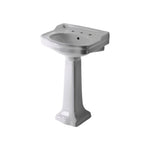 "Waterworks Palladio Vitreous China Pedestal Lavatory Sink 22 1/2"" x 18 1/2"" x 35"""