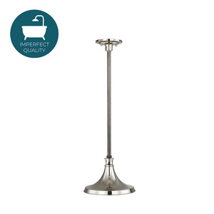 Waterworks Percy Ceiling Mounted Single Pendant with Metal Shade in Nickel with Old Bronze