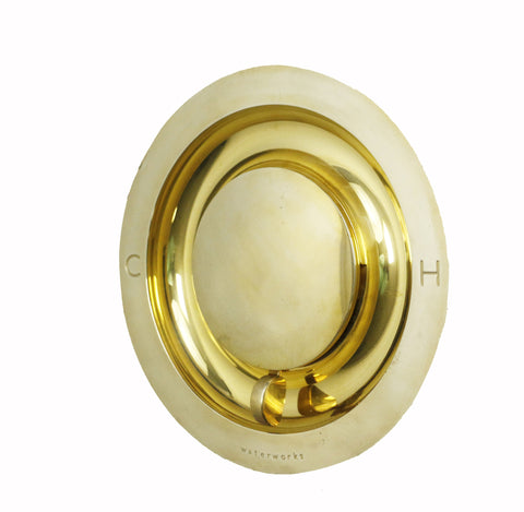 Waterworks .25 Thermostatic Control Valve in Unlacquered Brass