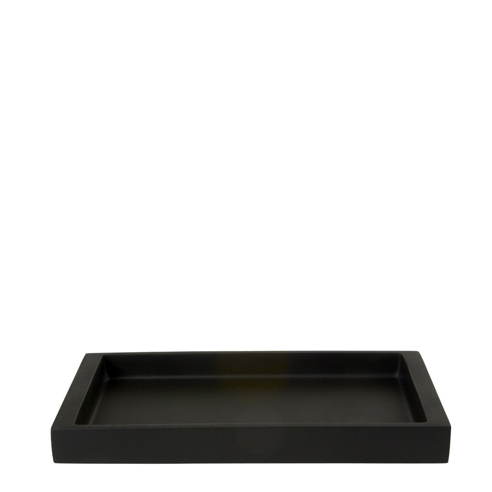 Waterworks Resin Medium Rectangular Tray in Black