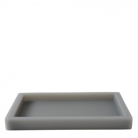 Waterworks Resin Medium Rectangular Tray in Soft Gray