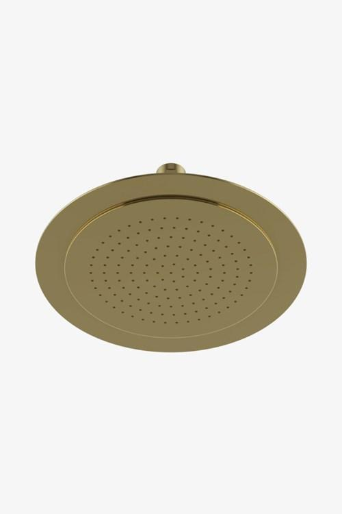 "Waterworks Universal Recessed Ceiling Mounted 7 3/4"" Shower Rose in Unlacquered Brass"