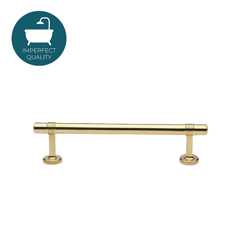 "Waterworks Rondelle 6"" Pull in Unlacquered Brass"