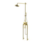 Waterworks R.W. Atlas Exposed Thermostatic System with Handshower in Unlacquered Brass