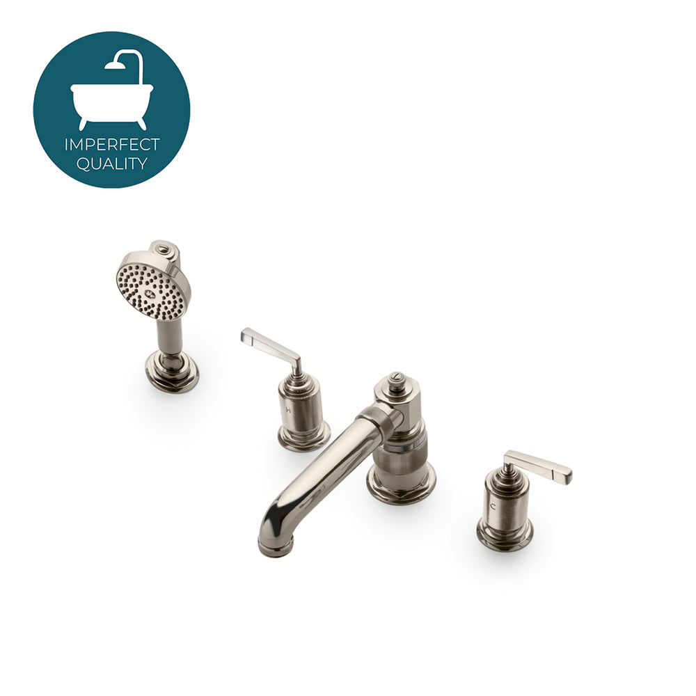 Waterworks R.W. Atlas Low Profile Concealed Tub Filler with Handshower in Nickel