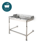 "Waterworks R.W. Atlas Metal Two Leg Single Washstand 40"" x 23"" x 31 3/4"" in Burnished Nickel"