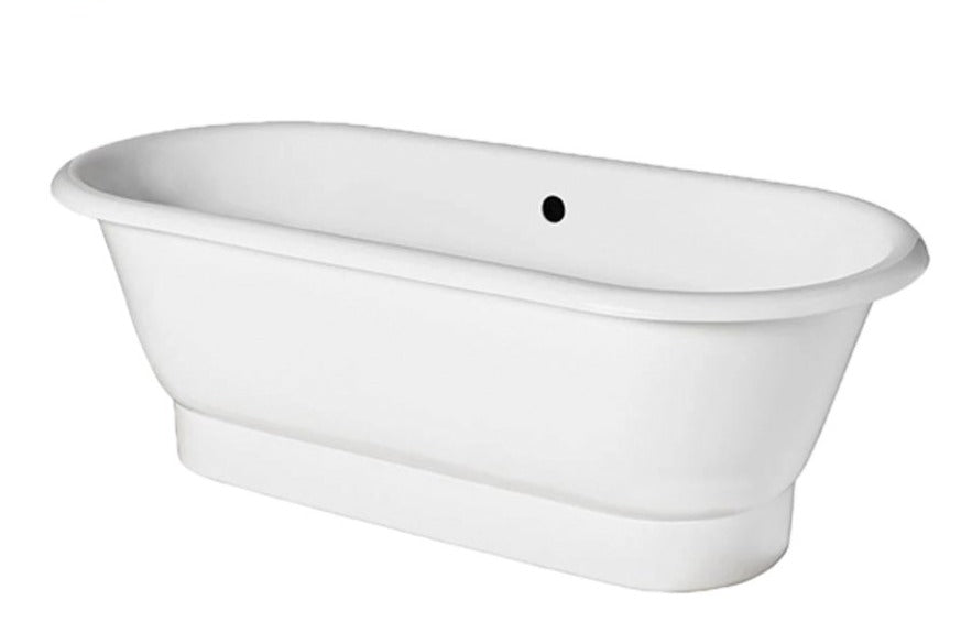 "Waterworks Santry 67"" x 31"" x 22"" Freestanding Cast Iron Oval Bathtub"