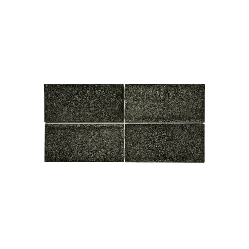 Waterworks Architectonics Dust Pressed Field Tile 3 x 6 in Shagreen Light Glossy Layered