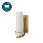 Waterworks Shane Wall Mounted Single Arm Sconce in Unlacquered Brass