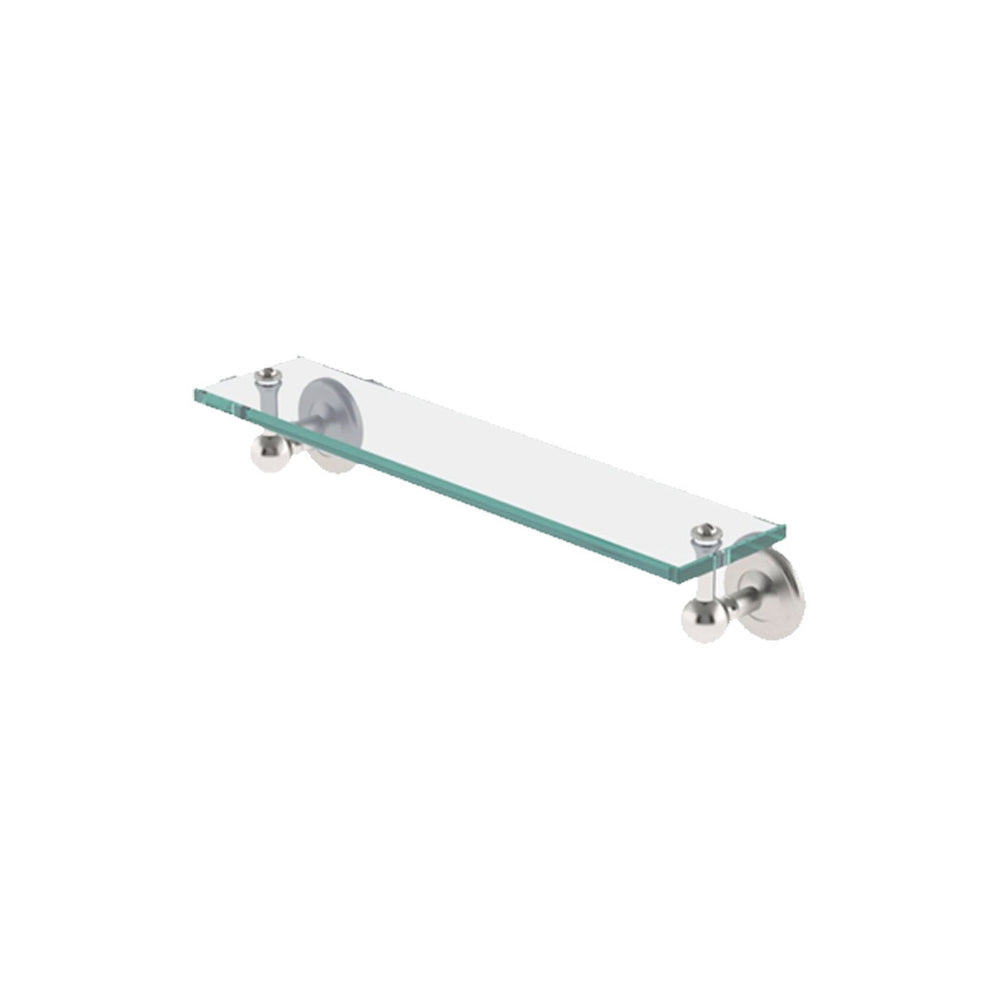 "Waterworks Regulator 18"" Single Glass Shelf in Matte Nickel"
