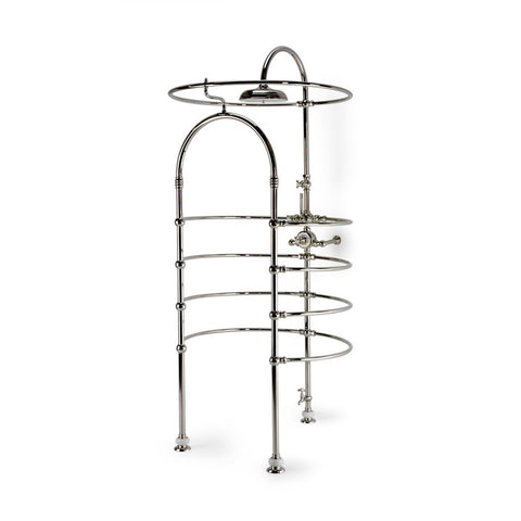 "Etoile Exposed Thermostatic Shower Cage with 12"" Rose in Matte Nickel"