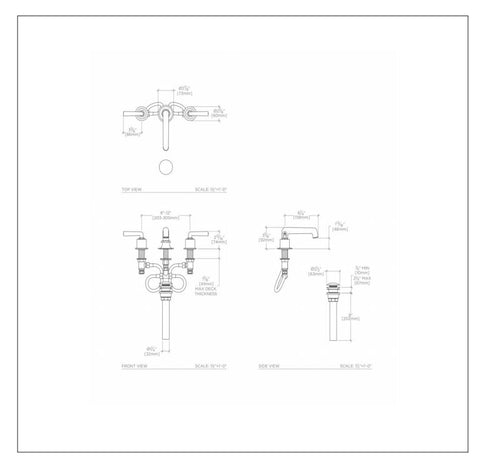 Waterworks Henry Low Profile Three Hole Deck Mounted Lavatory Faucet ...