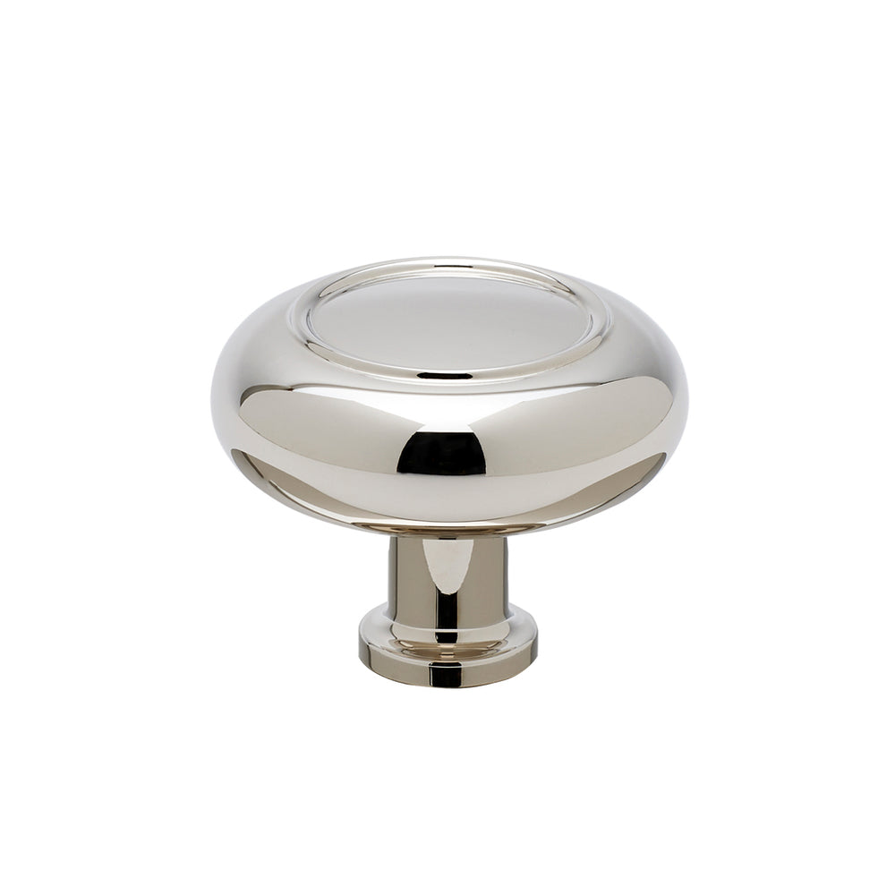 "Waterworks Steward 1 3/4"" Knob in Nickel"
