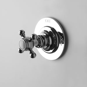 Waterworks Universal Two Way Thermostatic Diverter Valve Trim (Plate Only) in Chrome