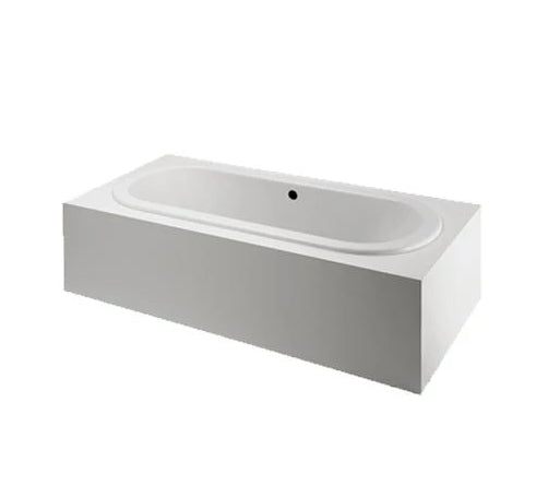 "Classic 78"" x 39"" x 22"" Left Hand Air Oval Bathtub with Center Drain in White"