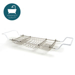 Waterworks Crystal Freestanding Tub Rack in Chrome