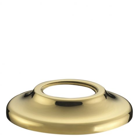 Waterworks Julia High Profile Concealed Tub Filler with Handshower in Unlacquered Brass