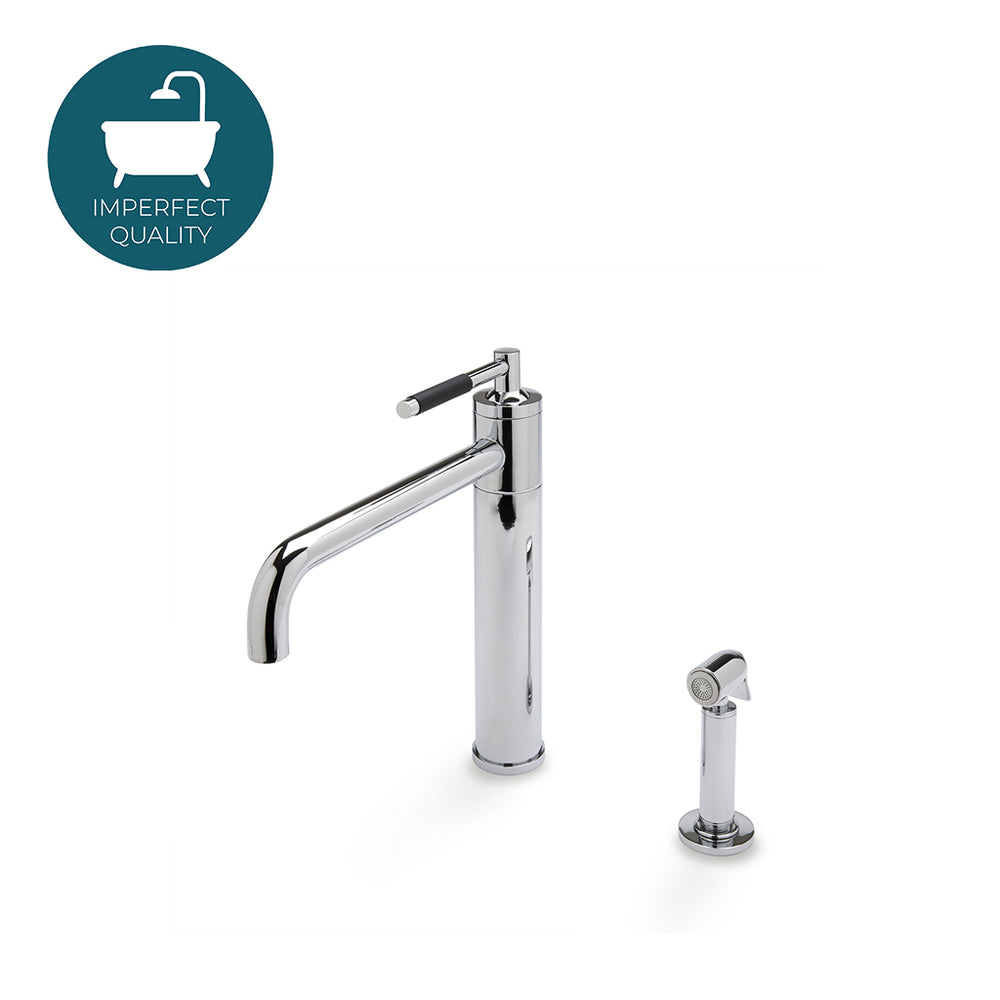 Waterworks Universal Modern One Hole High Profile Kitchen Faucet in Chrome