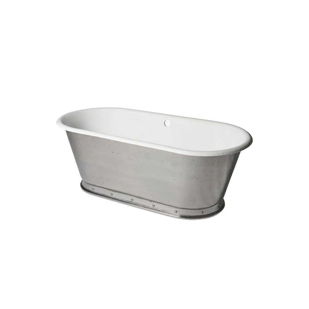 Waterworks Voltaire Freestanding Oval Cast Iron Bathtub with Slip Resistance in Burnished