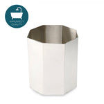 Waterworks Asscher Octagonal Waste Can in Pewter