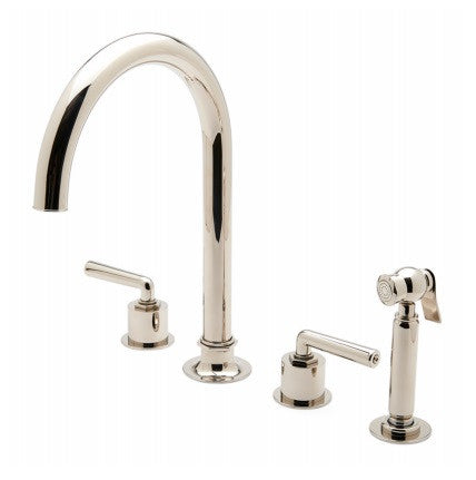 Waterworks Henry Gooseneck Kitchen Faucet with Spray in Matte Nickel