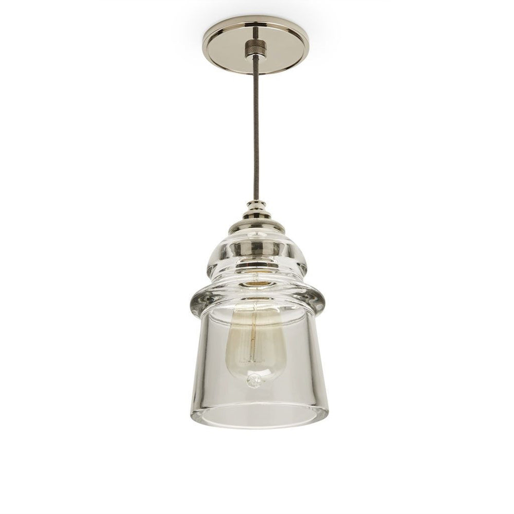 Waterworks Watt Ceiling Mounted Pendant with Silver Cord in Chrome