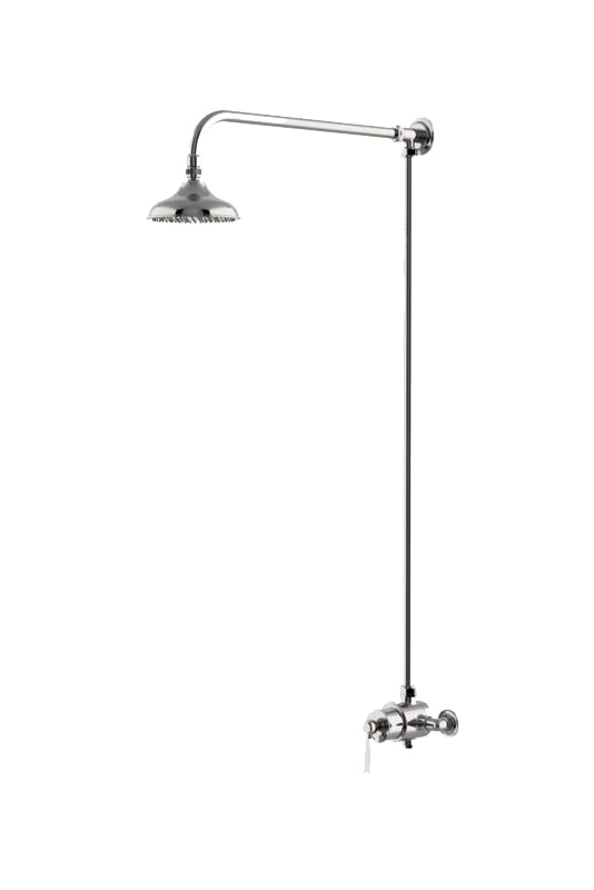 Waterworks Roadster Exposed Thermostatic System without Handshower in Matte Nickel