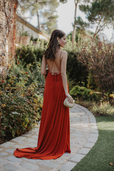 Vestido Grace Cognac - FINAL SALE - FW18 - brunacoleccion bruna invitadaperfecta invitadaboda invitadabruna boda guest wedding