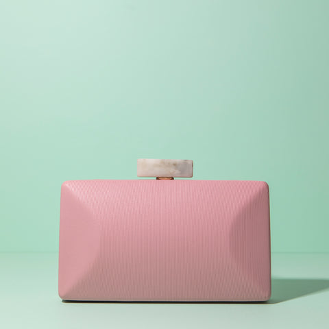 Clutch Box Hueso Kina Rosa SS19 - brunacoleccion bruna invitadaperfecta invitadaboda invitadabruna boda guest wedding