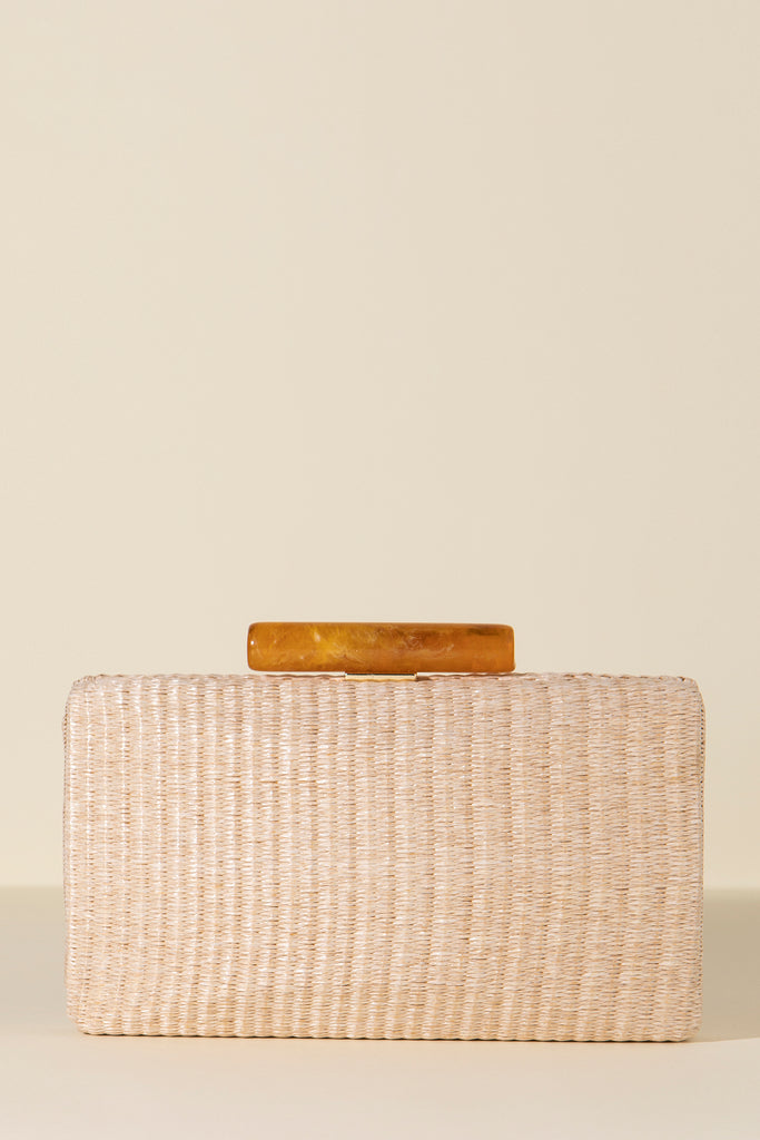 Clutch Hueso Rafia Tostado Rectangular Spring20 - brunacoleccion bruna invitadaperfecta invitadaboda invitadabruna boda guest wedding