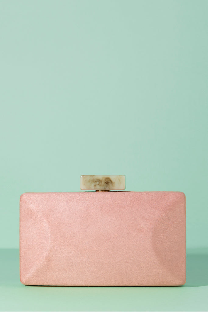 Clutch Box Hueso Kina Rosa Suede Spring20 - brunacoleccion bruna invitadaperfecta invitadaboda invitadabruna boda guest wedding