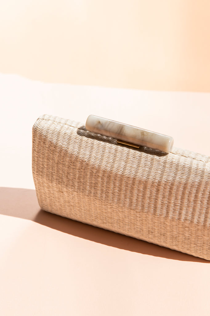 Clutch Hueso Rafia Natural Rectangular Spring20 - brunacoleccion bruna invitadaperfecta invitadaboda invitadabruna boda guest wedding