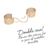 Désir Métallique Gold Metallic Mesh Handcuffs