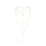 Magnifique Back and Cleavage Chain Gold